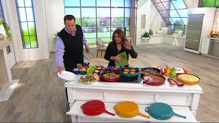 "Rachael Ray 12"" Porcelain Enameled Cast Iron Skillet on QVC"