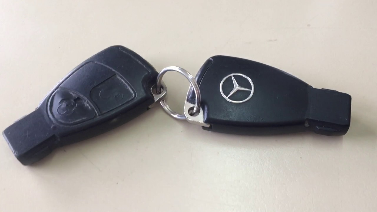 Mercedes Schlussel Batterie Wechseln Youtube