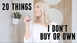 20 THINGS I STOPPED BUYING | minimalism & saving money