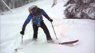 Backcountry skiing tip - The skin track kick turn