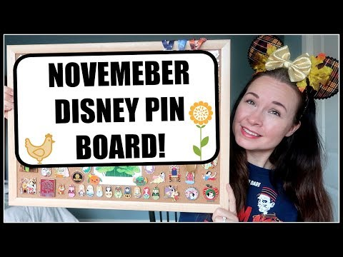 DISNEY THANKSGIVING PIN BOARD! | My Disney Pin Collection se