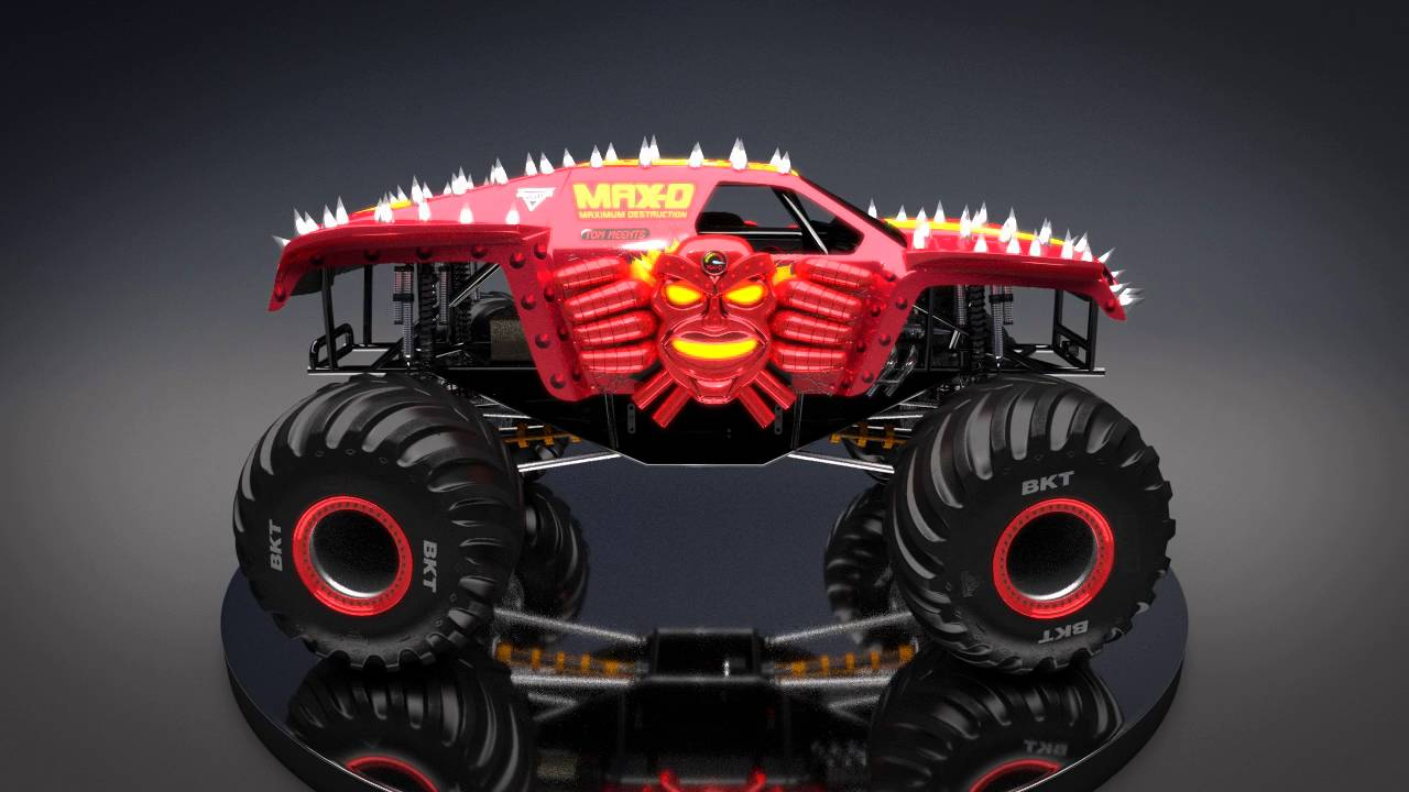 Max D Red New Look For Monster Jam 2016 Youtube