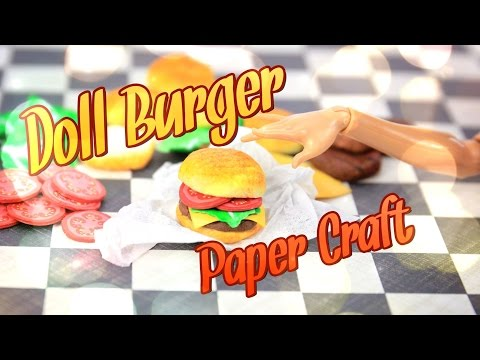 DIY - How to Make: Doll Hamburger - Handmade - Crafts