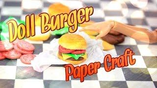DIY - How to Make: Doll Hamburger - Handmade - Crafts