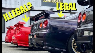 The BEST R34 GTRs VS Show and Display Law!