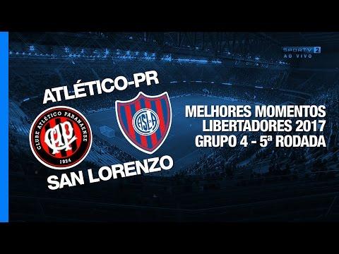 Melhores Momentos - Atlético-PR 0 x 3 San Lorenzo - Libertadores - 03/05/2017
