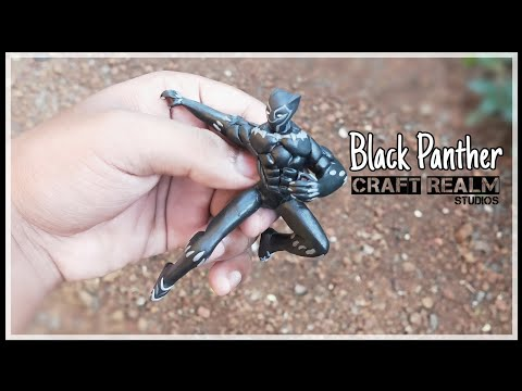 Wakanda Forever !! | Sculpting Black panther using polymer clay | Tutorial