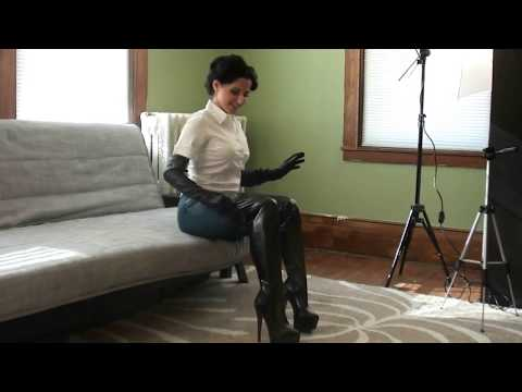 Putting on Long Leather Gloves and Thigh-High BOOTS!! from YouTube · Duration:  3 minutes 6 seconds