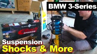 1998 BMW 3-Series Shocks, Struts, Coil Springs, and Trailing Arm Bushings Replacement