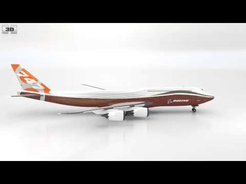 Boeing 747-8I by 3D model store Humster3D.com