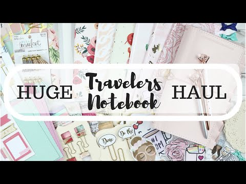 HUGE! Travelers Notebook Haul! Prima Marketing SOFIE Travelers Journal | At Home With Quita