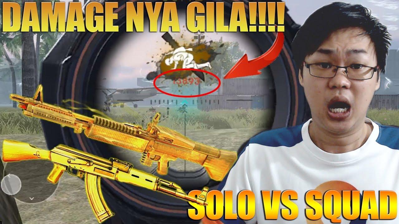 GOLD M60 x GOLD AK47 - DAMAGENYA GILA !!! BERASA PAKAI CHEAT AUTO HEADSHOT !!! GARENA FREE FIRE