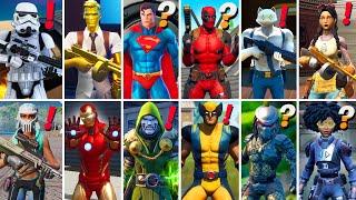 All Bosses, Mythic Weapons & Vault Locations in Fortnite Season 1 - 7 (Midas,Kit,Wolverine,Superman)