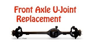 Jeep Front Axle U-Joint Replacement DIY (Detailed)