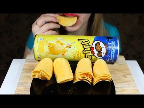 ASMR Eating PRINGLES CHIPS (Crunchy Eating Sounds) NO TALKING. Tasty ASMR Eating