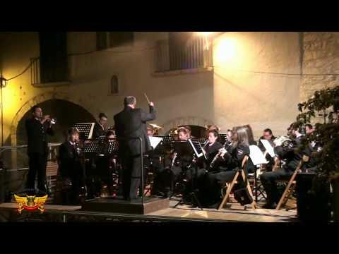 Il Concerto bandistico di Barrea esegue Rivista Verdiana - Barrea (AQ) 28.06.15