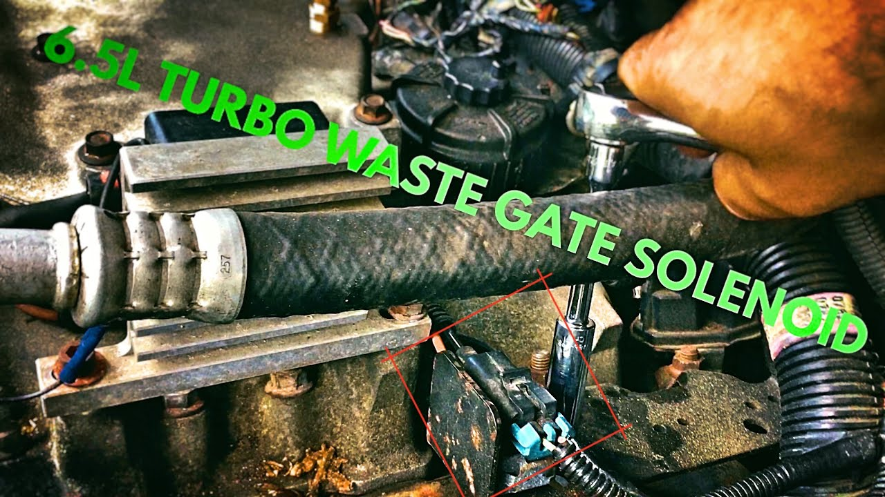 65l Turbo Diesel Boost Waste Gate Solenoid Engine P0236 Replacement 1997 F350 Glow Plug Wiring Harness Youtube