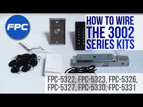 Maglocks 3002 Series Kits  - Learn How To Wire and Setup the  FPC Security