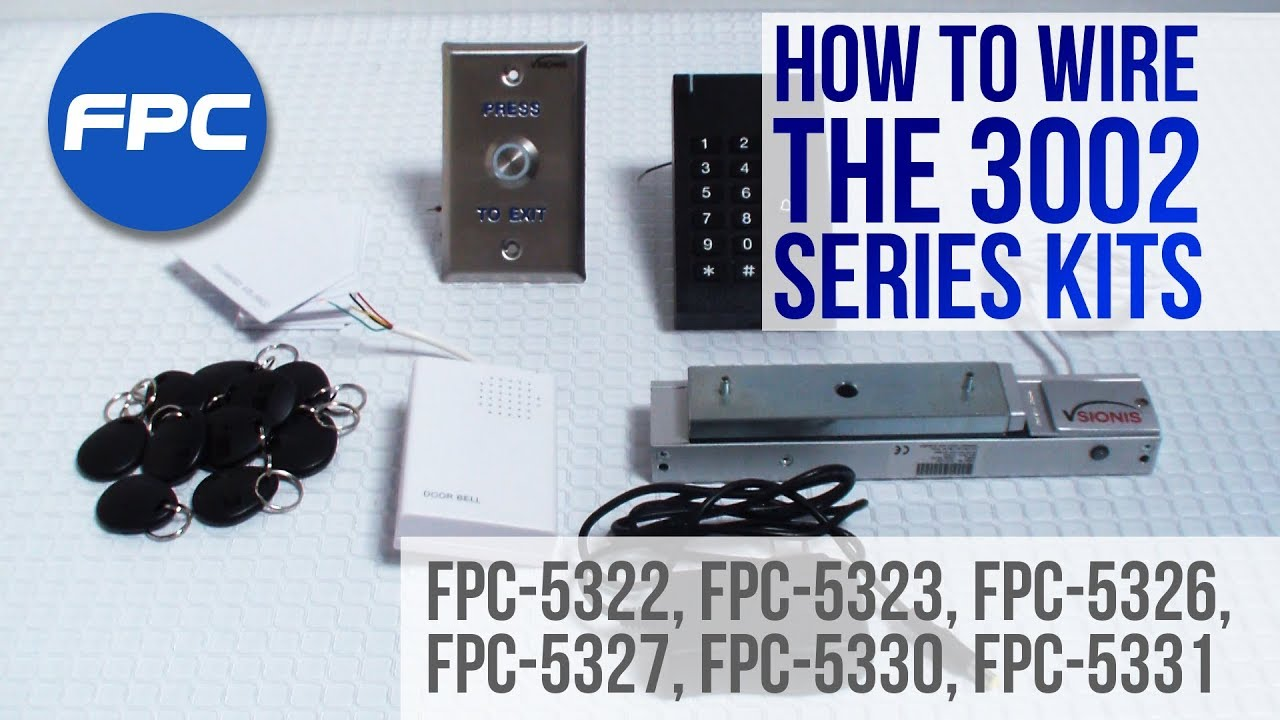 hight resolution of maglocks 3002 series kits learn how to wire and setup the fpc rh youtube com wiring a maglock magnetic lock wiring