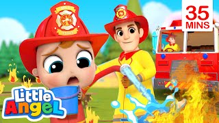 Firefighters To The Rescue + More | Little Angel Kids Songs & Nursery Rhymes