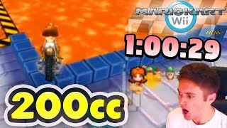 Mario Kart Wii - 200cc All Tracks Speedrun - 1:00:29 (No Ultra Shortcuts)