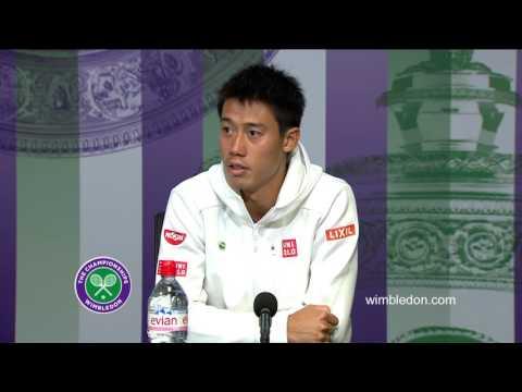 Kei Nishikori fourth round press conference