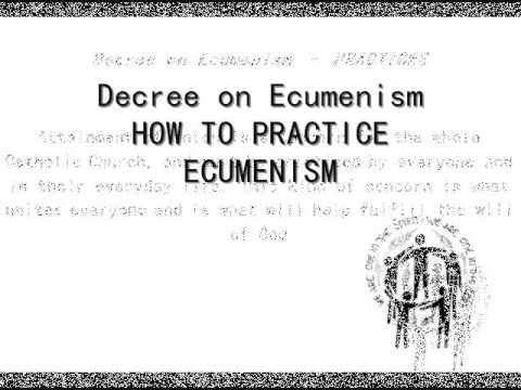 Vatican II Documents: Decree on Ecumenism (Unitatis