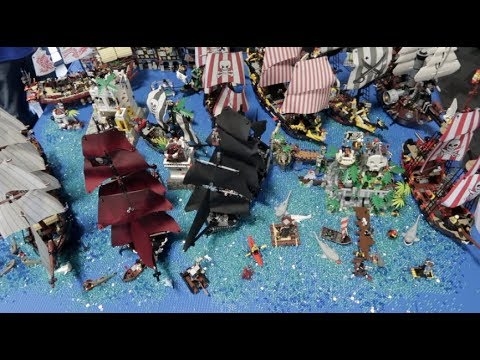 Huge Lego Pirates Ship Display