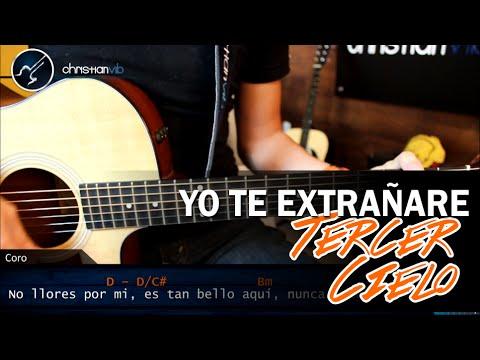 Como tocar Yo Te Extrañare TERCER CIELO En Guitarra | Tutorial Acordes Christianvib