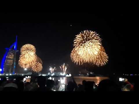 Dubai Burj Al Arab Celebrate in 2021 Fireworks | United Arab Emirates