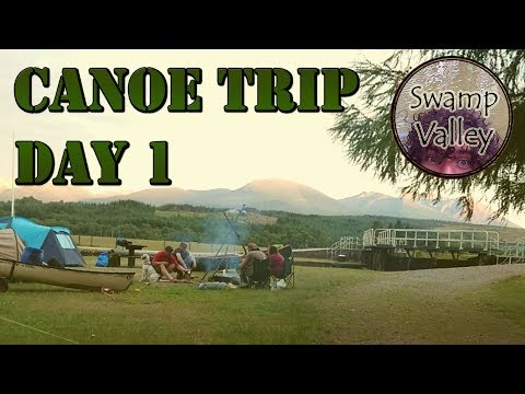 Canoe Trip day 1 - Bushcraft, Wild Camping and Drinking Beer - Swamp Valley