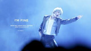 181106 MGA 지니뮤직어워드 방탄소년단 BTS - I'M FINE JIMIN focus fancam 지민 직캠 (4K)