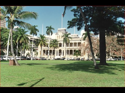 Visiting Lolani Palace, Royal residence in Honolulu, Hawaii, United States