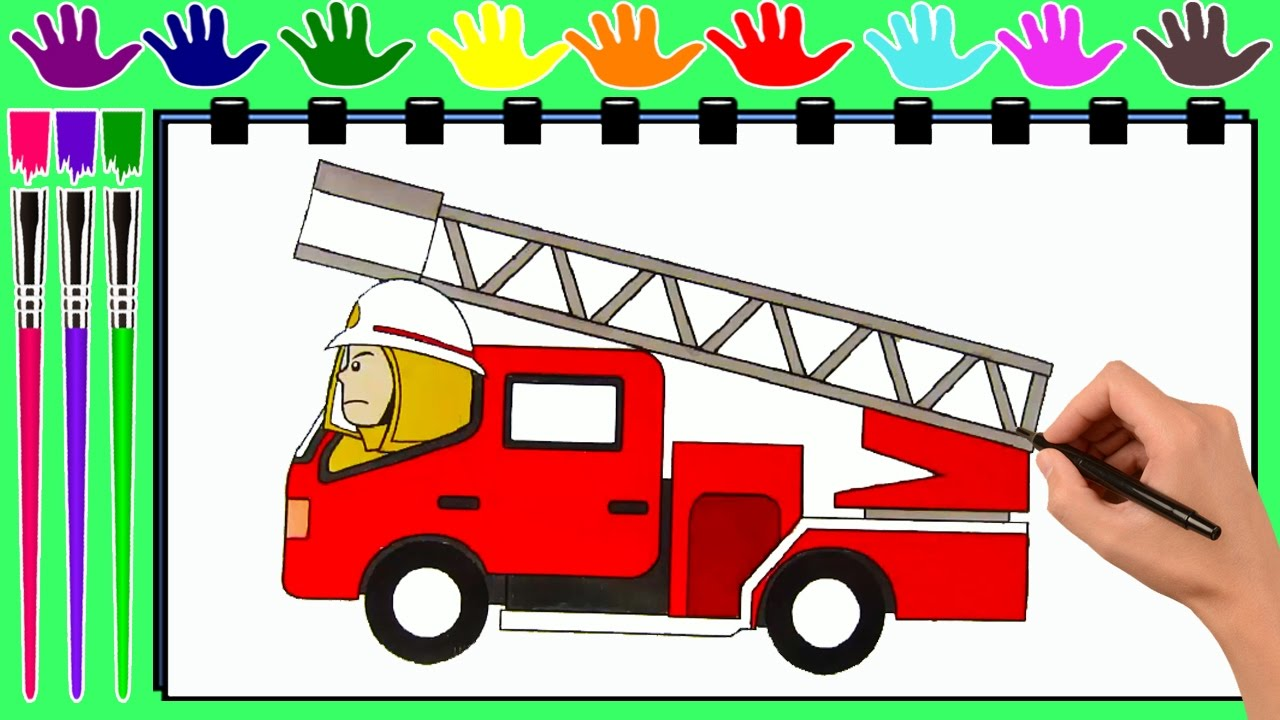 coloring pages fire truck drawing pages to color for kids by