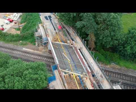 Replacement bridge over railway at New Pond Road, Farncombe/Compton