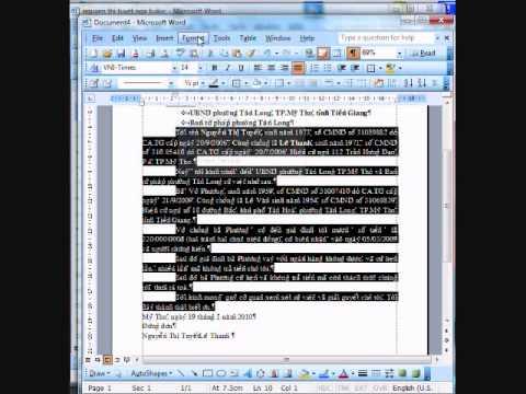 CCA Word 3: Định dạng văn bản đơn giản