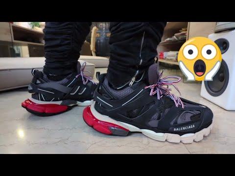 Balenciaga Grey Track Sneakers in Gray for Men Lyst