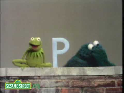 sesame street letter b sesame kermit shows the letter b to cookie 24811