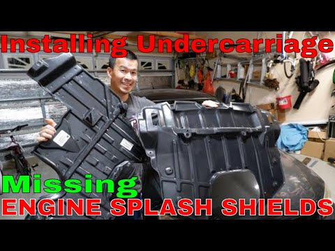How to Install Lexus IS300 Engine Splash Covers | Altezza Undercarriage Splash Guards