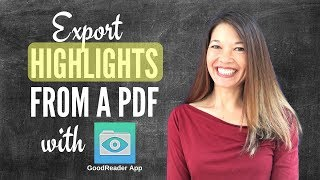 Export Highlights and Annotations from a PDF with the GoodReader App