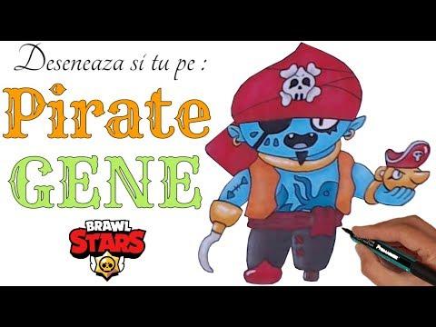 Desenez Si Colorez Brawl Stars How To Draw Pirate Gene