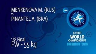 1/8 FW - 55 Kg: M. MENKENOVA (RUS) Df. A. PINANTEL (BRA) By TF, 10-0