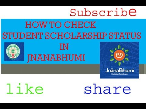 how to check student scholarship status in Jnanabhumi