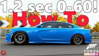 Forza Horizon 4: 1.2 Second 0-60 Dodge Charger Hellcat!! Full Tuning Tutorial