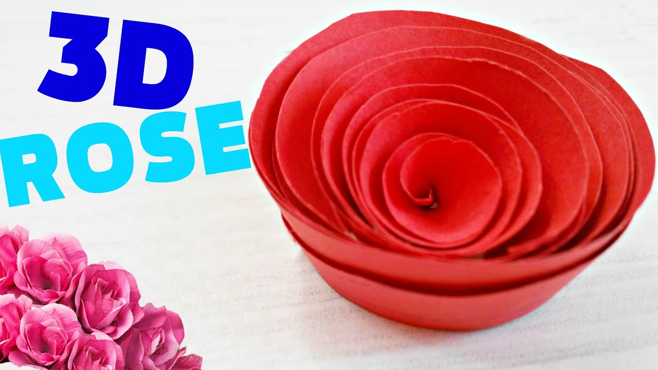 How To Make A Flowerrose Out Of Paper Origami Easy Steps For Kids