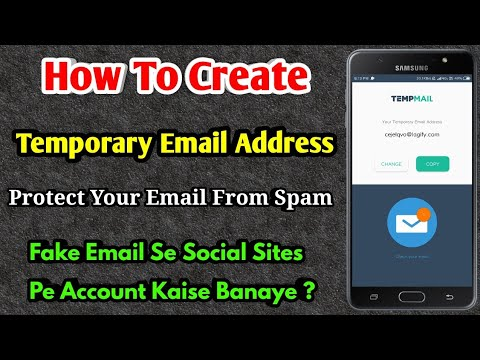 How To Create Temporary Email Address | Create Account In Social Sites |  Fake Email Generator | Temp
