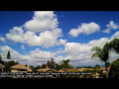Chino Hills Time-Lapse 3/26/17