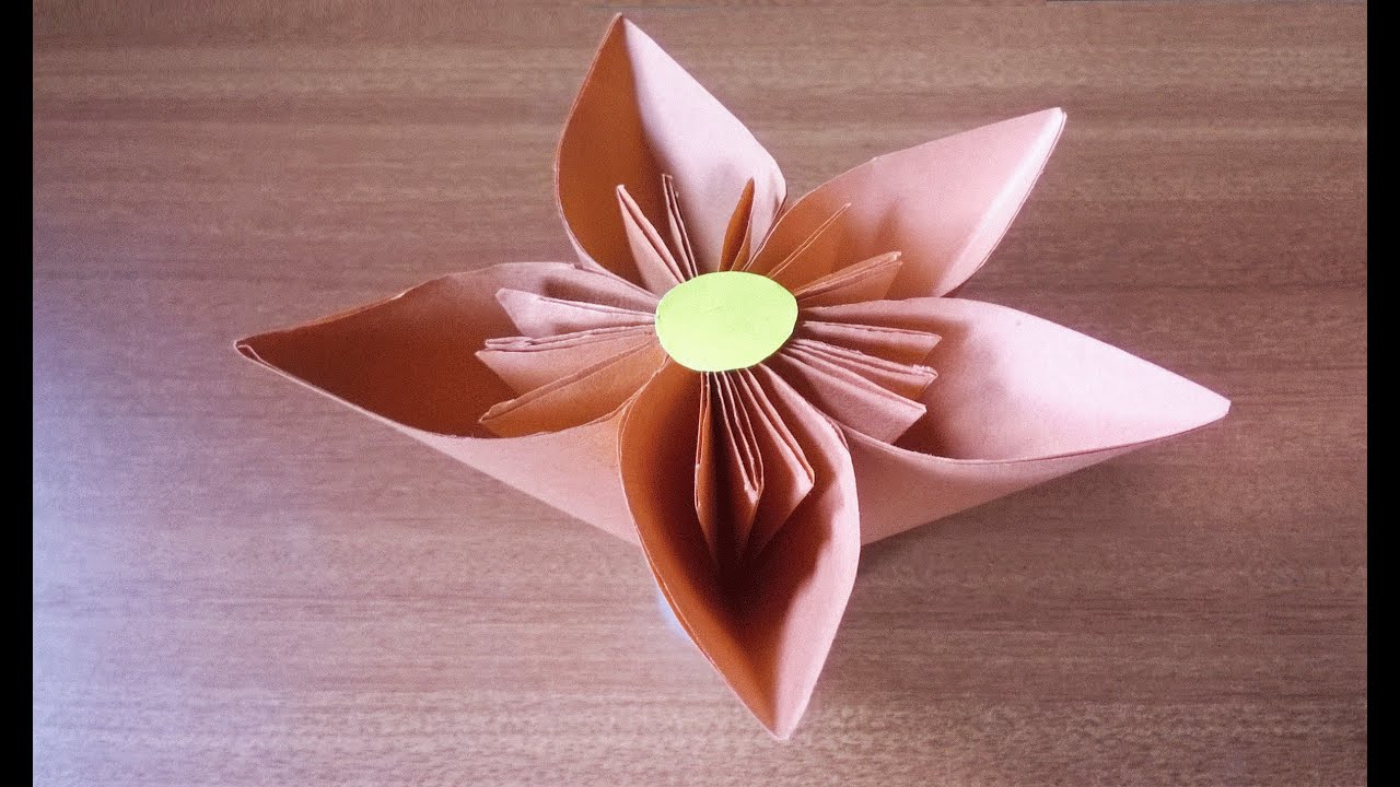 How To Make A Simple Flower With Paper Step By