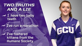 Two Truths & a Lie: Lexy Coons (Softball)