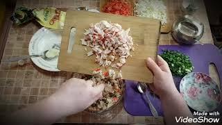 Вкусный Салат морской бриз из морепродуктов. Орчане гуляют